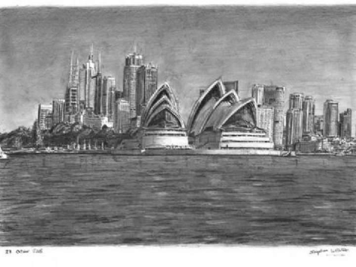 Otistik ressamın gözüyle şehirler 12