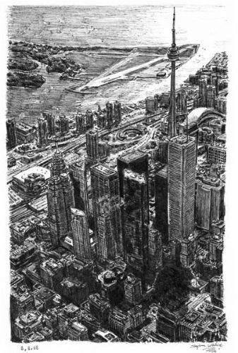 Otistik ressamın gözüyle şehirler 14
