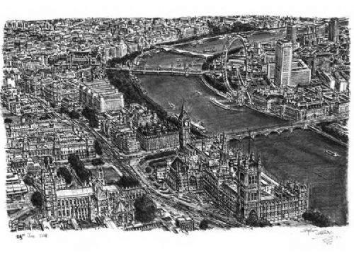 Otistik ressamın gözüyle şehirler 15