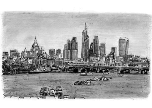 Otistik ressamın gözüyle şehirler 24