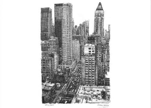 Otistik ressamın gözüyle şehirler 27