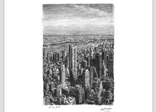 Otistik ressamın gözüyle şehirler 29