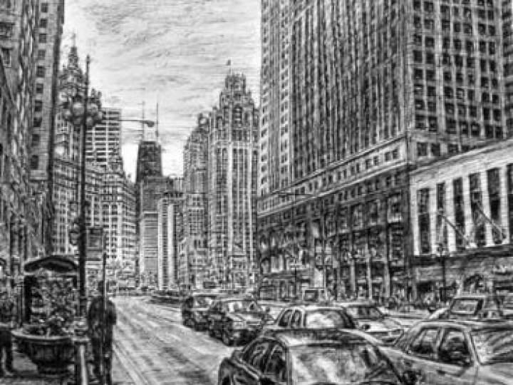 Otistik ressamın gözüyle şehirler 6