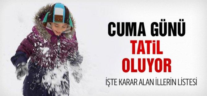 9 Ocak Okullar Tatil mi, Yarın Tatil Olan İller?