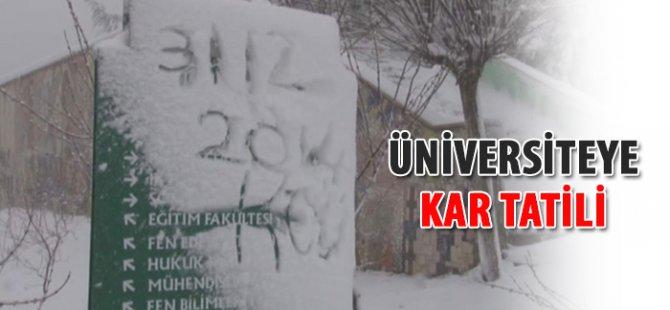 Bazı Üniversitelerde Kar Tatili