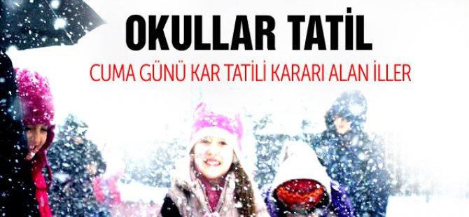 Yarın 13 Şubat Cuma Okullar Tatil Mi?