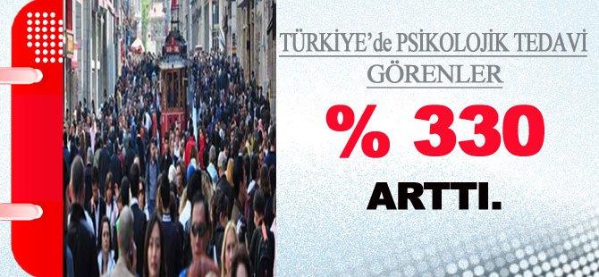 Türkiye'de Psikolojik Tedavi Görenler % 330 Arttı