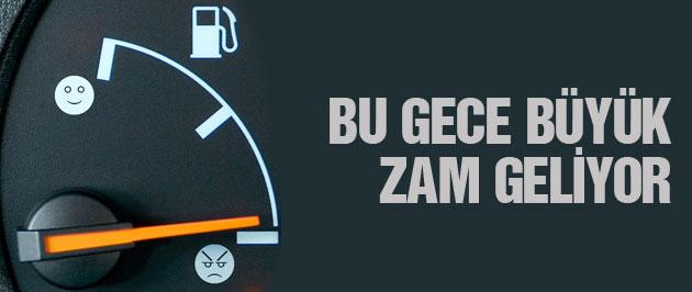 Benzin Fiyatına Bu Gece Büyük Zam Geliyor