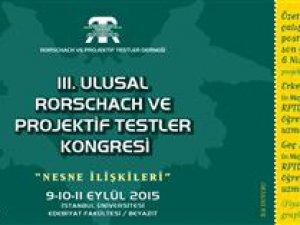 III. Ulusal Rorschach Ve Projektif Testler Kongresi