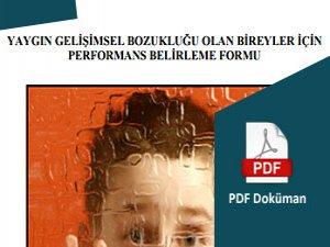 Yaygın Gelişimsel Bozukluk Performans Belirleme Formu