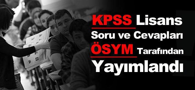 KPSS Lisans Soru ve Cevapları ÖSYM Tarafından Yayımlandı!
