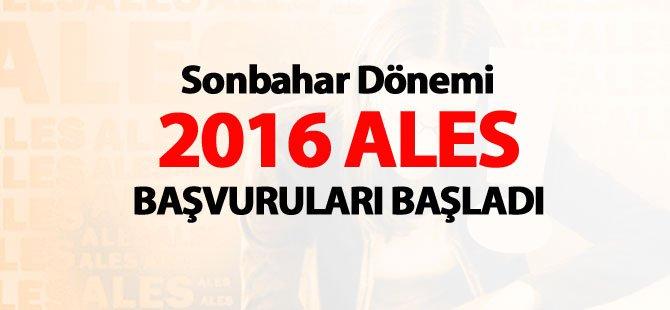 Sonbahar Dönemi 2016 ALES Başvuruları Bugün Başladı!