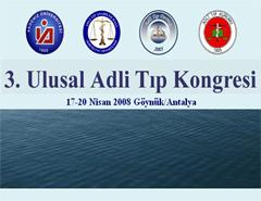 3. Ulusal Adli Tıp Kongresi