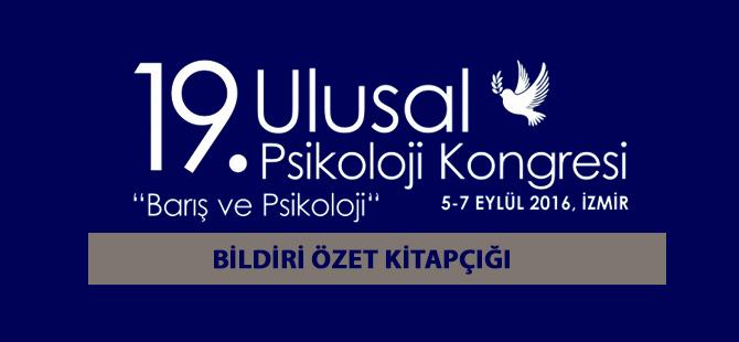 19. Ulusal Psikoloji Kongresi Bildiri Kitapçığı