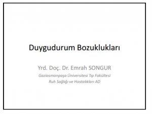 Duygudurum Bozuklukları -PDF sunu dosyası-