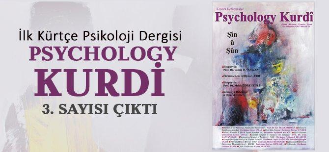 Psychology Kurdi 3. Sayısı Çıktı
