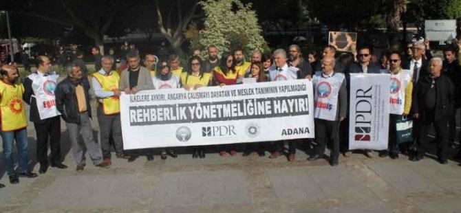 Adana'da Rehberlik Yönetmeliği Protesto Edildi