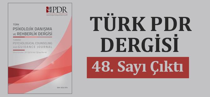 Türk PDR Dergisi 48. Sayısı Çıktı
