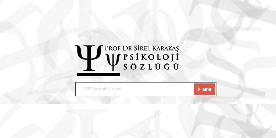 Psikoloji Sözlüğü Web Sitesi Yayına Girdi
