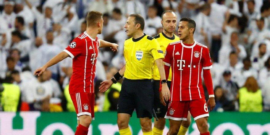 Real Madrid Bayern Münih maçında Cüneyt Çakır'ın kararı tartışma yarattı