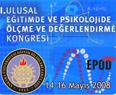 I. Ulusal Eğitimde ve Psikolojide Ölçme ve Değerlendirme Kongresi