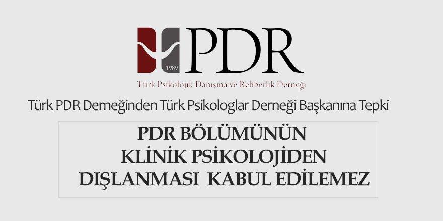 Türk PDR Derneği: PDR'nin Klinik Psikolojiden Dışlanması Kabul Edilemez