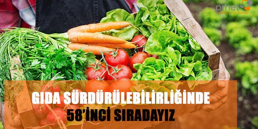 Gıda Sürdürlebilirliğinde 58'inci Sıradayız