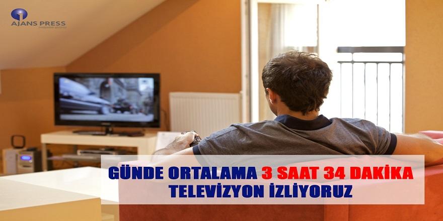 Günde Ortalama 3 Saat 34 Dakika Televizyon İzliyoruz