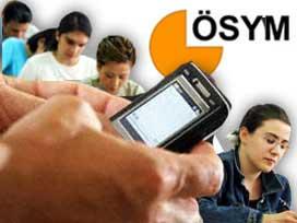 ÖSS puanları cebe SMS ile gelecek