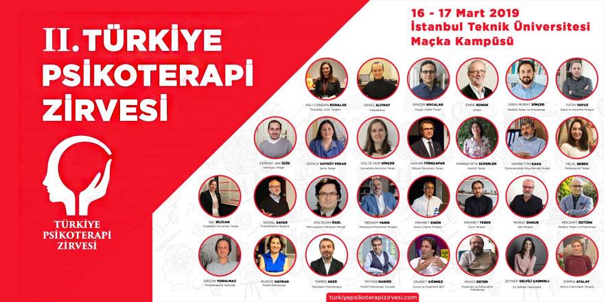 2. Türkiye Psikoterapi Zirvesi 16-17 Mart 2019'da