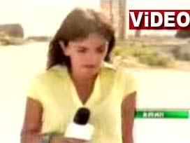 Gürcü spiker canlı yayında böyle vuruldu