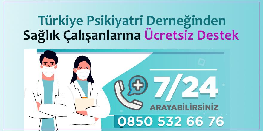 TPD'den Sağlık Çalışanlarına Psikolojik Destek