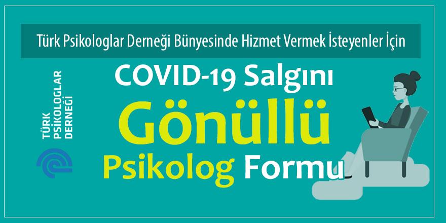 Türk Psikologlar Derneği Gönüllü Psikolog Formu