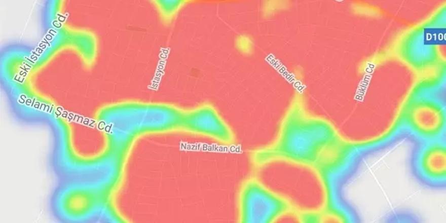 O ilçe tamamen kızardı! Vaka haritasında korkutan görüntü