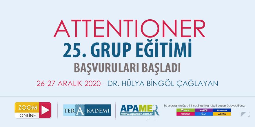 Attentioner 25. Grup Eğitimine Başvurular Başladı