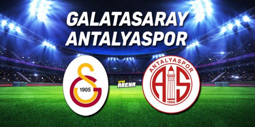 Galatasaray - Antalyaspor Maç Sonucu: 0- 0