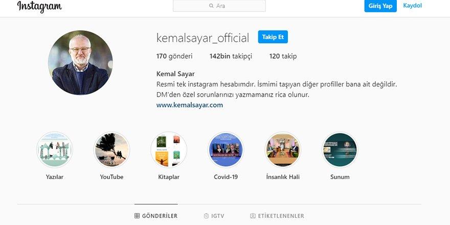 Kemal Sayar'ın İnstagram Takipçi Sayısı 142 bini geçti