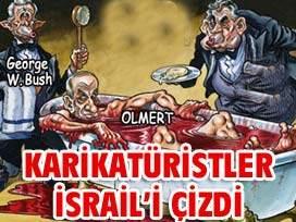 Karikatürist kalemler katil İsral'i ÇİZDİ!