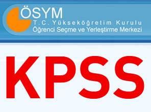 2013 KPSS Konu Dağılımı ve Puan Türleri