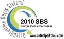 2010 SBS 1. Yerleştirme Sonuçları