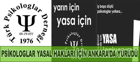 Psikologlar Ankarada Eylem Yaptı
