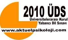 ÖSYM 2010 ÜDS Sonbahar Dönemi Sınav Duyurusu