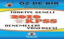 ÖZDE-BİR Türkiye Geneli KPSS Deneme sınavı soru ve cevapları