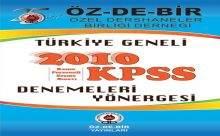 ÖZ-DE-BİR Türkiye Geneli KPSS Deneme Sınav Sonuçları