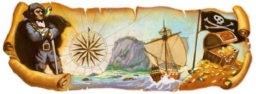 Google, Robert Louis Stevenson Logosuna Taşıdı
