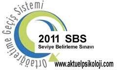 2011 SBS Yerleştirme Sonuçları