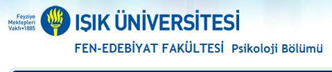 Işık Üniversitesi Psikoloji Bölümü