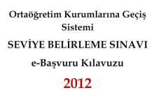 2012 SBS BAŞVURU KILAVUZU