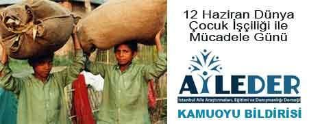 Bugün Dünya Çocuk İşçiliği ile Mücadele Günü