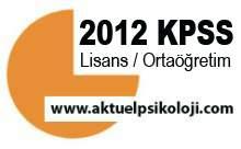 2012 KPSS Önlisans Başvuru Kılavuzu